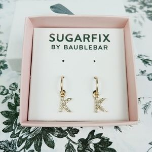 Baublebar Sugarfix letter K hoop earrings